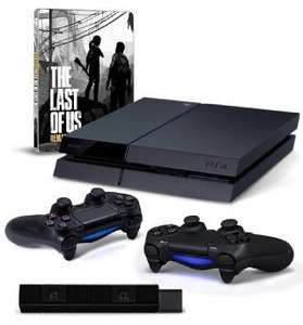 Playstation 4, Extra Dualshock controller, PS4 Camera + The Last of Us Remastered Steelbook - £360.61 Delivered @ Amazon.de