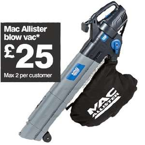 MAC Allister Blow Vac £25 @ B&Q this weekend starts Saturday 11th.
