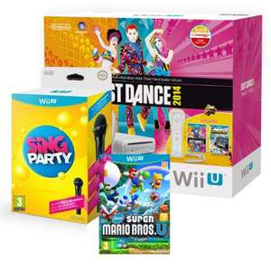 Wii U Basic Console Bundle + 4 Games Including Super Mario Bros/ Just Dance/Nintendo Land Plus Sing Party with mic £189.95 @ Ebay/shopto_outlet