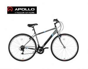 Apollo Transfer Mens Hybrid Bike Save 50% Off NOW £129.99 Halfords