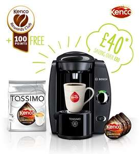 Tassimo Machine for £40 + £5 postage with Discs and 100 free Kenco points- 66% off! @ Tassimo