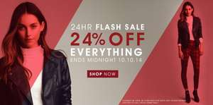 24% OFF EVERYTHING - For 24hrs Only - Full price items only @ Peacocks