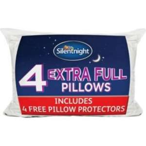 Silentnight Extra-Filled Pack of 4 Pillows - Was £35.99 (£3.95 p&p) @ Argos - £14.39