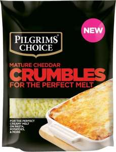 Pilgrims Choice Mature Cheddar Crumbles (200g) ONLY £1.00 @ Sainsbury's (INSTORE)