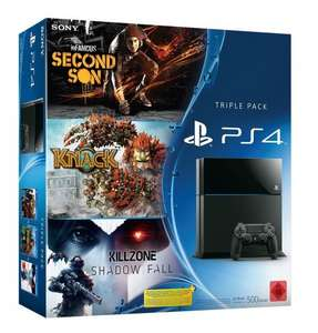 PS4 Console - Triple Bundle Pack - Killzone: Shadow Fall, Knack and inFamous Second Son - 410 euros delivered from Amazon.de (£323)