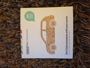 Tesco Car Insurance Quote - 500 Clubcard points! £20 Boost value!