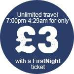 First Bus night all day £3 from 7PM - 4:30am