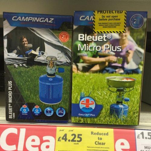 Campingaz Bleuet Micro plus stove £4.25 @ Tesco