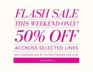 Flash Sale This Weekend Only - Prices From £5 - Free Delivery on £50 Spend + Possible 5% Quidco For Sale Items @ Curvety