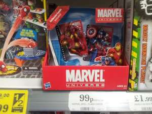 Marvel 2 Figure Sets - Spiderman & Green Goblin / Iron Man & Captain America - 99p in Home Bargains.