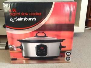 Sainsbury's 4.5L Digital Slow Cooker - In Store only £11.99