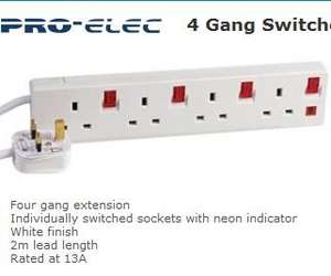 4 Gang Switched Extension Lead With Neon for £3.11 @ CPC ( delivery free, minimum order value is £6 )