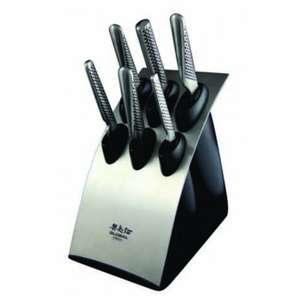 Global 7 Piece Knife Block Set G-886B £240 with voucher on Sizzle.co.uk