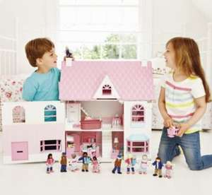 Buy the Rosebud Country Doll's House £100 and get two room sets for free!Saving you £30 Free Delivery + Possible £10 off £50 Spend + Potential 11% Cashback via Quidco @ ELC
