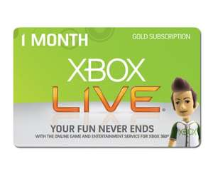 Free Xbox Live 1 Month Trial