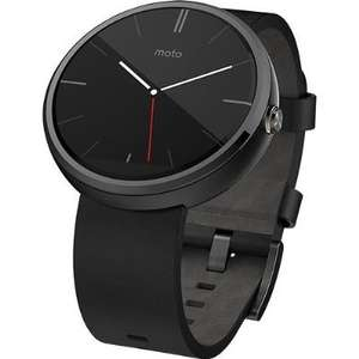 Motorola Moto 360 black leather smart watch £200 @ Tesco