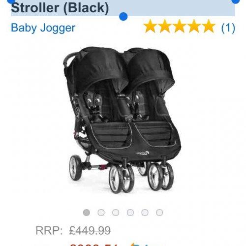 Baby Jogger City Mini Double Stroller 2014 model -Amazon - £383.51 (usually £449.99)