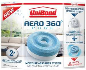 UniBond Aero-360 Moisture Absorber Refills 2x450g £3.19 @ Amazon   (free delivery £10 spend/prime)