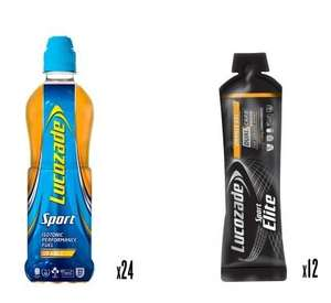 Lucozade Marathon Training Pack (24 x Bottles & 12 x Gels) £19.99 inc Delivery @ Lucozade