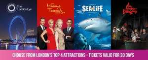 london attraction passes - visit 4 london attractions for £55 @ London Eye saving £51.90 booking till 31 dec