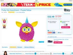 Furby Hot and Cool £27.49 with code birthday8 @ Toys R Us