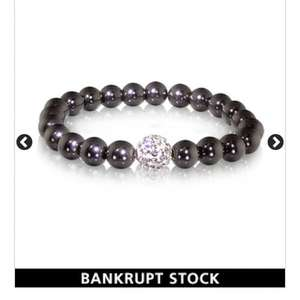Lacey Haematite and Crystal Hand Set Bracelet £3 @ Warren James