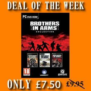 25% OFF Brothers in Arms Collection, 3 games in 1 £7.50 @ 4gamersuk