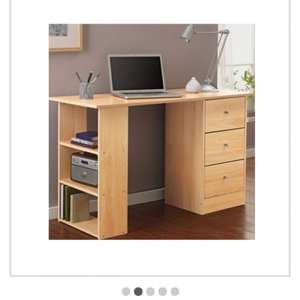 Malibu 3 Drawer Desk - Beech Effect less than 1/2 price now £21.99  @ Argos