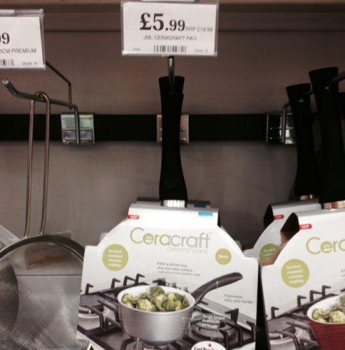 JML ceracraft 20cm saucepan £5.99 in Home Bargains