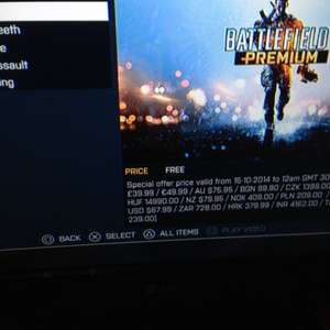 Battlefield 4 Premium PS3 Free @ Playstation Store