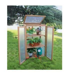 Wooden Cold Frame, Mini Greenhouse £29.99 Delivered @ ebay-ClearanceCentre123
