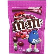 Raspberry and Dark Chocolate M&Ms 226g for £1.29 @ B&M