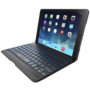 Zagg Zaggkeys Black Hinged Tablet Case and Back-Lit Bluetooth Keyboard for iPad Air - Lowest ever price - £33.21 @ Amazon