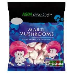 250g Bag of Raspberry flavour Marti Mushrooms £1 @ Asda