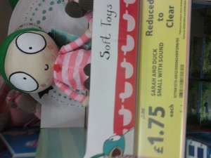 Sarah & Duck Talking Sarah Plush £1.75 @ Tesco Instore