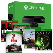 XBOX ONE CONSOLE + EVIL WITHIN, ALIEN ISOLATION, FORZA 5, DEAD RISING 3, WOLFENSTEIN Bundle £399.85 @ shopto!!!!