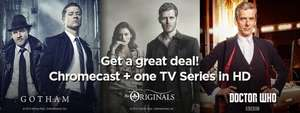 "FREE CHROMECAST deal is back at Wuaki.tv! This time it includes new TV shows in HD @ £24.99 ""Gotham"", ""Doctor Who"" and ""The Originals"" with free postage"