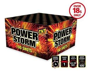 Aldi- Powerstorm 100 shot firework box £9.99