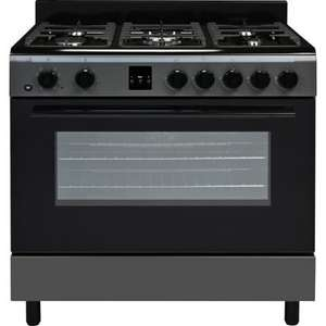 Bush AGE96R Single Dual Fuel Range Cooker at Homebase for £375.99