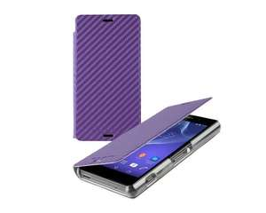 Amazon Roxfit Slimline Book Case Stand for Sony Xperia Z3 Compact (Carbon Fibre Purple) £10 @ Amazon and sold by Wiziwoo Limited.