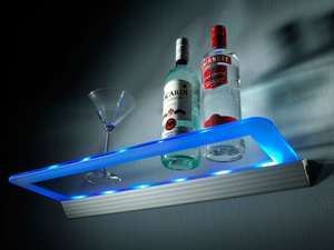 Battery Operated LED Glass Display Shelf £24.98 @ Safield