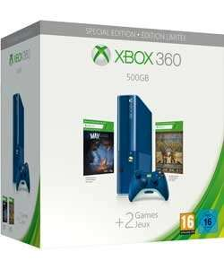 Xbox 360 500gb blue limited edition bundle with 2 Free Games £179.99 @ Argos