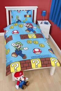 Super Mario Single Duvet Cover Set just £3.50 (C+C) @ Tesco Direct