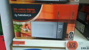 Sainsburys 20l black microwave with Grill £49.99