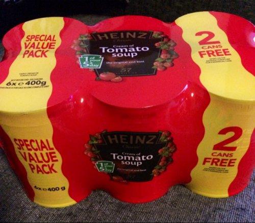Heinz Tomato Soup, six pack £2.98 @ Aldi