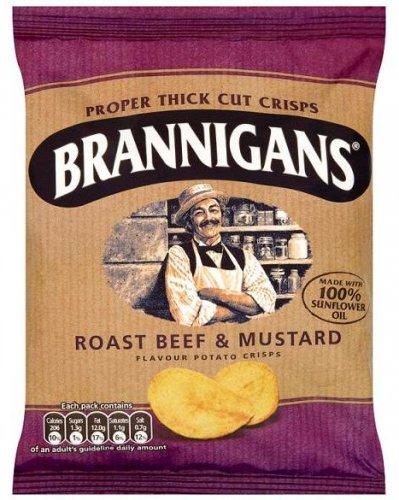 Brannigans Roast Beef & Mustard Crisps 20p @ Home Bargains