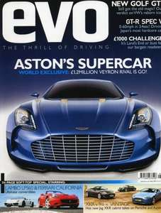 EVO Subscription, Octane, Auto Express, Land Rover Monthly year subscriptions 39.99