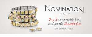Buy 2 Nomination charms and get a free bracelet @ Argento