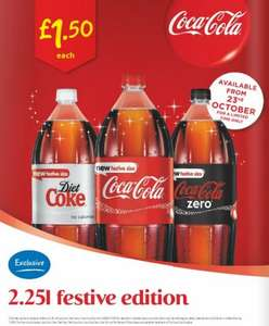 2.25l Coca Cola 'festive edition' for £1.50 @ Asda