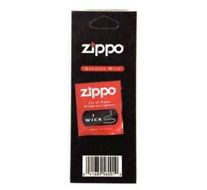 60p Genuine Zippo Individual Wick Replacement rrp £11.82 wah! (add on item / £10 spend)  @ Amazon